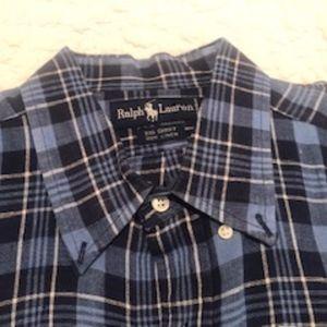 Ralph Lauren Big Shirt Blue Pattern
